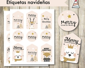 Christmas labels for gifts