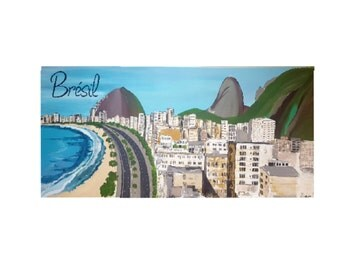 Brazil RIO 2016. Beautiful canvas with beach in the foreground. Let dream and make dream you!