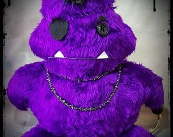 Mr P. Alternative - Handmade - Gothic - Emo - Alternative - Stuffed Monster - Plush - Plushie.