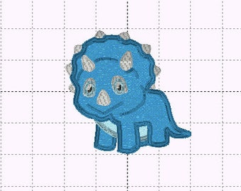 Boy Dinosaur Applique Design - INSTANT DOWNLOAD - Embroidery Design