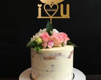 Wedding Cake Topper, Mr and Mrs Cake Topper, Custom Cake Topper, Personalized Cake Topper for Wedding, Anniversary, Birthday