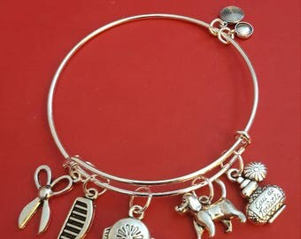 Pet Groomer Themed Charm Bracelet
