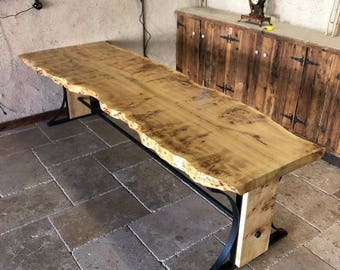 Wood Furniture,Industrial Trestle Work Table,farmhouse Table,Vintage  Trestle Table,Rustic