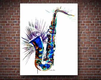 Saxophone, Saxophone Prints, Musical Instruments Art, Sax, Sheet Music, Musical Notes, Jazz Art, Jazz Musician, Saxophone Player