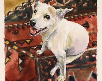 lover cat Pet Portrait Custom Portrait Commission Original watercolor painting Dog portrait cat painting custom dog painting portrait