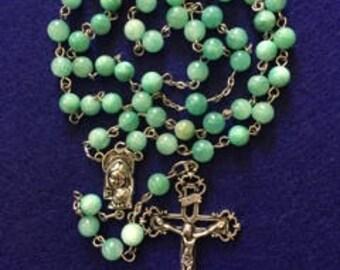 Blue Aqua Quartzite Rosary
