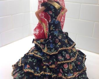Vintage Flamenco Dancer Doll