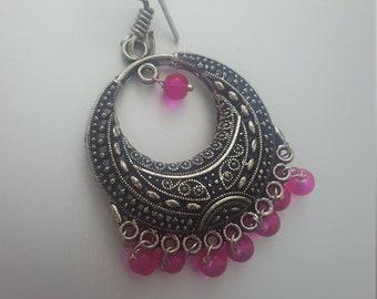 silver chand (Moon) bali earring
