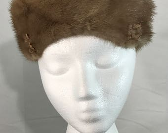 1960's | Best & Co | brown GENUINE fur cap