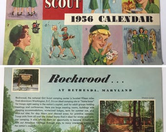 1956 | Girl Scout Calendar | mint condition