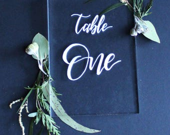 Table numbers. Table numbers wedding. Wedding decorations. Calligraphy. Wedding centrepiece. Bachelorette party decorations. Acrylic. Signs