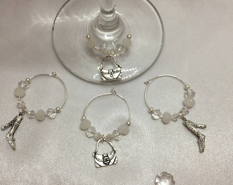Wine Glass Charms - Bags and Shoes