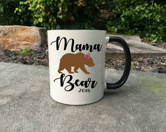 New mama bear mug, mama mom bear Mug, New Grandma Mug, Grandma Gift, Coffee Mug, Mother's Day Gift, New Grandma, Grandma Mug, mama bear