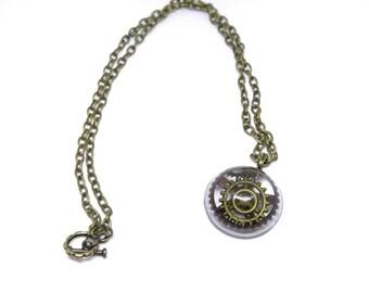 Steam Punk Necklace| Steampunk Jewelry| Pendant Necklace| Gears| Industrial Jewelry| Hardware Jewelry| Edgy Jewelry| Heavy Metal Jewelry