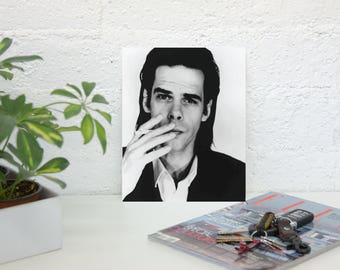 Nick Cave Poster- Nick Cave And The Bad Seeds - Nick Cave Print - Music Poster - Premium Semi-Gloss Photo Paper Poster