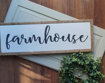 farmhouse | framed wood sign | home decor | gallery wall