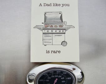 Dad's Birthday or Fathers Day Card bbq card, barbecue card, pun card