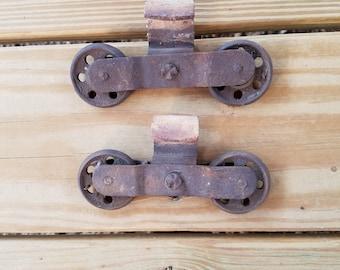 Vintage Barn Door Rolling Hardware