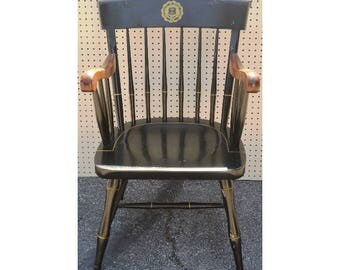 Vintage Bent Brothers Black University Of Rhode Island Windsor Colonial  Alumni Arm Chair