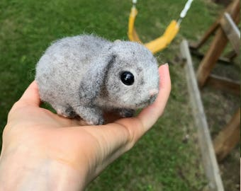 Needle Felted Baby Lop Eared Bunny