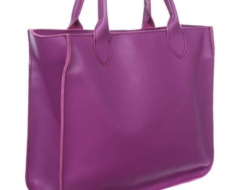 Tote bag/Woman leather bag/ Purple leather bag/Woman big bag/ Leather bag/Woman holder/Handmade bag/Modern bag/Tote bag/Fashion bag