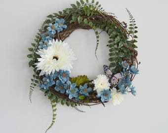 Summer Blue Crush Wreath