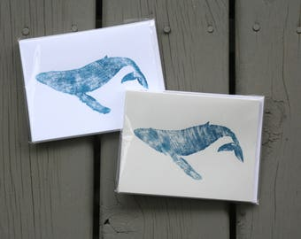 Whale Hello There Hand-Printed Stationary Set
