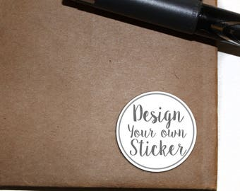 CUSTOM DESIGN Stickers - Letter Seals - design your own - circle sticker - 2.5 inch round