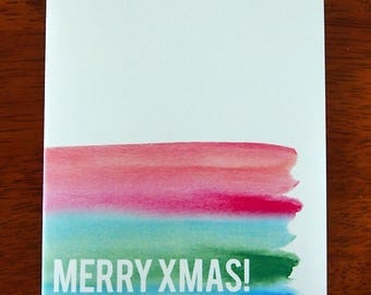 Merry Xmas card - ink it up collection