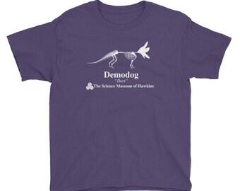 Youth Dustin's Dinosaur Demodog Stranger Things 2 T-Shirt