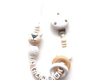 Pacifier pattern LEANDRE wooden beads