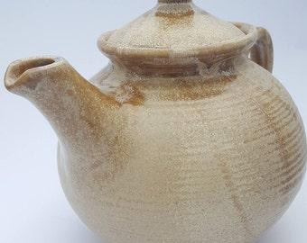 Handmade ceramic teapot gift home wedding on disk clay