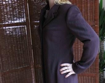 Plum/plum coat Overcoat 40 GB/USA 14/size / brand Caroll is 90