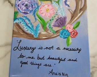 Anais Nin quote painting