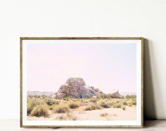 Desert print, printable wall art, bohemian style print, desert home decor, landscape wall art, California desert, boho print download