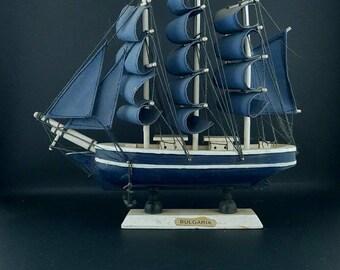 Model ship - Old ship - Ship mode - Decrotive boa - Boat model - Sailing ship - Big boat - Sailing boat - Bulgarian ship - Handmade.
