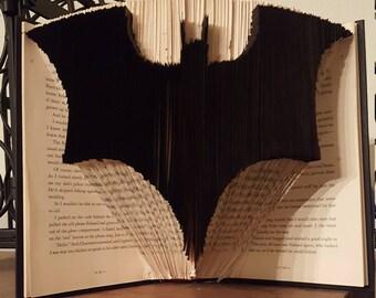 Batman Symbol - Folded Book Art