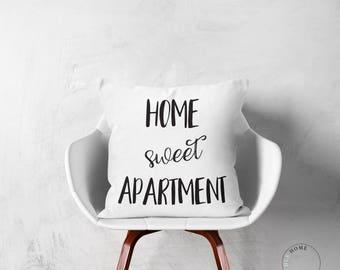 Apartment Sweet Apartment Throw Pillow | New Apartment Decor | New Apartment Gift | Funny Apartment Decor | Apartment Pillow | Realtor Decor