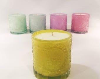 Sparkling Lemonade - Lemon Scented Soy Candle - Lather & Glow Soap Co - 5oz Jar - Gift Idea