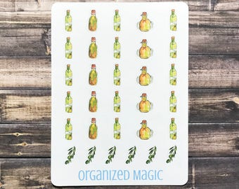 Olive oil planner stickers, olive oil sticker, cooking sticker