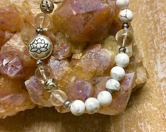 Mala Bracelet Meditation Bracelet Lotus Bracelet