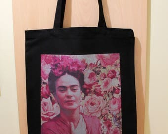 Frida Kahlo Bag, Frida Kahlo Cotton Hippie Bag, Frida Kahlo Printed Bag, Frida Kahlo Fan Gift, 100% Cotton Canvas Bag, Shopping Tote Bag
