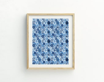 Blue Watercolor Abstract Print | Scandi wall art | Home wall art | Abstract Print | Abstract Wall Art | Watercolour Print | Blue Pattern