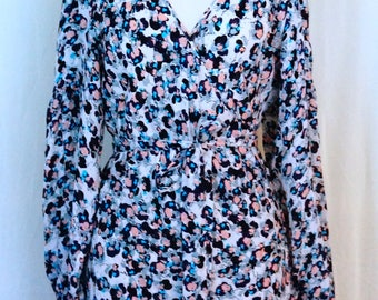 BCBG Floral Silk Wrap Dress