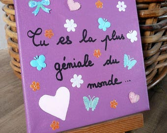 Personalized gift, customizable gift, gift for women, gift men, wall decoration, artistic painting, painting on canvas