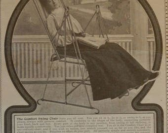 Comfort Swing Chair 1904 Antique Magazine Advert/Clipping