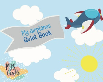 Airplanes Quiet Book - 4 Years+