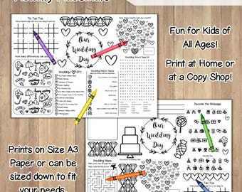 Wedding Coloring Book Printable Instant Download /