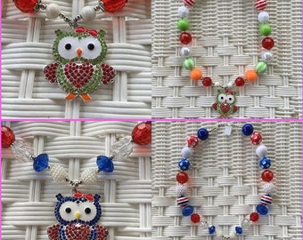 Lil' Girl Dreams Hoot Owl Necklace