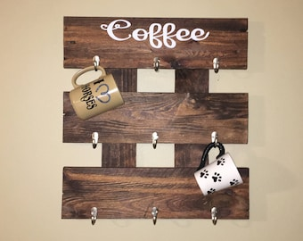 Coffee Mug Holder, Coffee Mug Rack, Coffee Cup Holder, Cup Holder